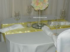 What a great way to add color to any table decor. A table runner can be cost effective as well as elegant!