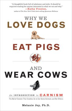 Why We Love Dogs, Eat Pigs and Wear Cows - Melanie Joy explores the invisible system that shapes our perception of the meat we eat, so that we love some animals and eat others without knowing why. She calls this system carnism. Carnism is the belief system, or ideology, that allows us to selectively choose which animals become our meat, and it is sustained by complex psychological and social mechanisms.