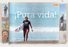 VeinteMundos Magazines: Surf en Costa Rica Spanish Teacher, Spanish Class, Teaching Spanish, Costa Rica, Surfing, Novels, The Unit, Entertaining, Vacation