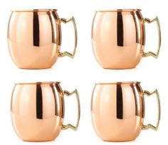 Amazon.com: Amazing Moscow Mule Solid Copper Mug / Cup, 16 Ounce, Set of 4: Kitchen & Dining Copper Moscow Mule Mugs, Copper Mugs, Copper Vessel, Iron Steel, Cork Coasters, Mugs For Sale, Steel Furniture, Brass Handles, Mugs Set