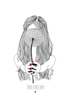 Dandelion girl. Rocío Vigne