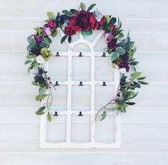 Wedding Flower Garland, Flower Wedding Arch, Flower Backdrop, Floral Teepee Topper, Boho Flower Garland, Flower Table Runner #thethistlesticks