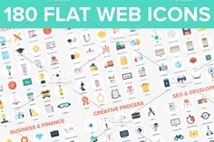 Web Icons. by vasabii on @creativemarket