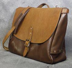 c3d02ad4538d Brown Leather Laptop Bag Messenger Bag Man by NormCahnLeatherworks