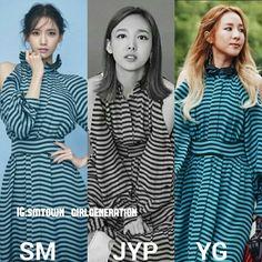 SMJYP Or YG ?  . . . #snsd #gg #girlsgeneration #smtown_girlgeneration #sm #smtown #soshi #Taeyeon #Tiffany #seohyun #Sunny #Sooyoung #Hyoyeon #Yuri #Yoona #Kpop #sone #singers #yoona__lim #nayeon #twice #jyp #yg #2ne1 #dara #korea #idol #celebrities #tbt #dafbama2017_girlsgeneration