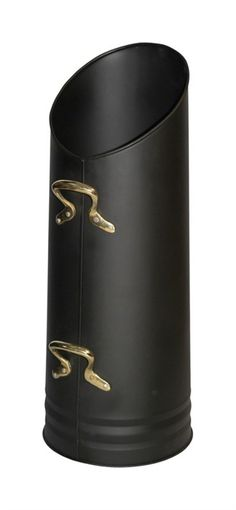 Black coal hod with brass handles. This coal scuttle will make the perfect fireplace accessory, not only will it look good by your fireside you can also keep your coals neat and tidy. The coal bucket has two handles to make scooping and pouring easier.