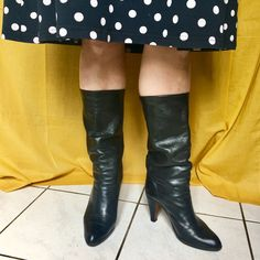 Bonnie by LaRabota Knee Boots, Upcycle, Shoes, Fashion, Vintage Boots, Heels, Leather, Zapatos, Moda