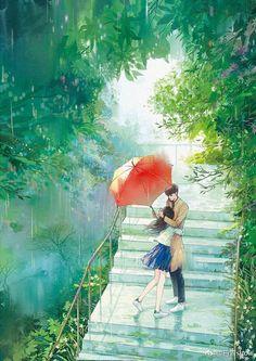 stock gallery - Couple (art) - Page 2 - Wattpad Cute Couple Art, Anime Love Couple, Cute Anime Couples, Art Anime, Manga Art, Anime Triste, Graphisches Design, Japon Illustration, Scenery Wallpaper