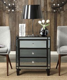 Look what I found on #zulily! Dominic Three-Drawer Mirror Accent Table by HomeBelle #zulilyfinds