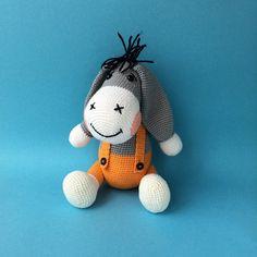 Crochet Donkey - Amigurumi Handmade Stuffed Toy
