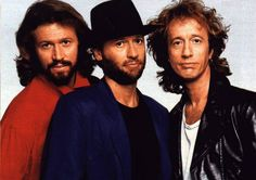 Barry, Maurice, and Robin Gibb (The Bee Gees).