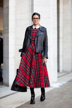 Tartan and leather