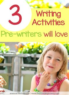 3 Writing Activities for Pre-Writers {with Free Printable} | WriteShop for This Reading Mama