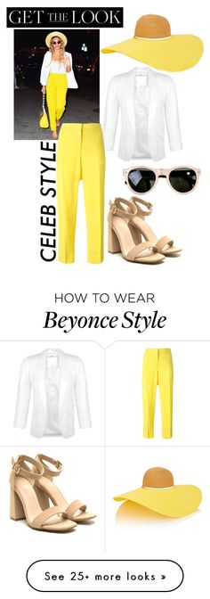 """""""Beeyonce 🐝"""" by xfash on Polyvore featuring Miss Selfridge, Eugenia Kim, Emilio Pucci, GetTheLook and hats"""