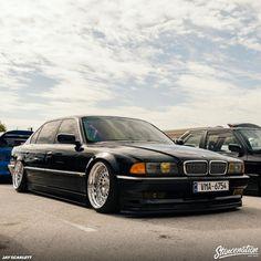 Weird Cars, Cool Cars, Crazy Cars, Bmw 740, Bmw 7 Series, Bmw Classic, Stance Nation, Bmw Cars, Future Car