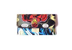 IRON MAN tobacco pouch comic upcycling unique piece from PauwPauw on Etsy