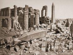 Broken obelisk, Karnak, Egypt . Photograph by Félix Bonfils, 1870s