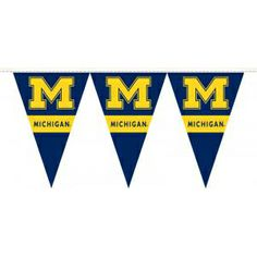 25 Feet of University of Michigan Party Pennants - These can spice up your Tailgate decor or claim your territory in the Big House parking lot!