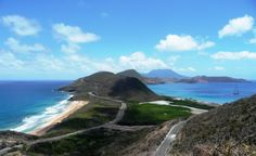 St Kitts... I have the sane exact picture.. Atlantic on one side, caribbean the other