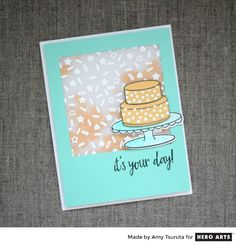 It's Your Day birthday shaker card by Amy Tsuruta