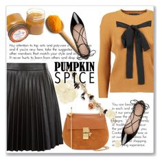 """""""Pumpkin Spice Style"""" by andrejae ❤ liked on Polyvore featuring Napier, Rochas, Kate Spade, New Look, Chloé and pss"""