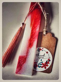 Handmade Resin Bookmarks with Tassel