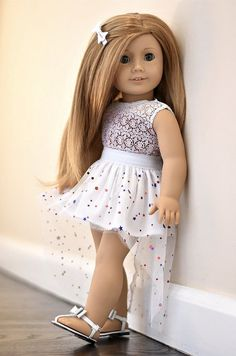 High low Skirt American Girl doll Clothes by EliteDollWorld