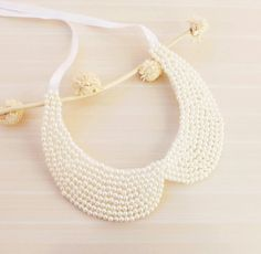 Winter Accessories Ivory Pearl Collar Necklace Peter by medusa12, $25.00