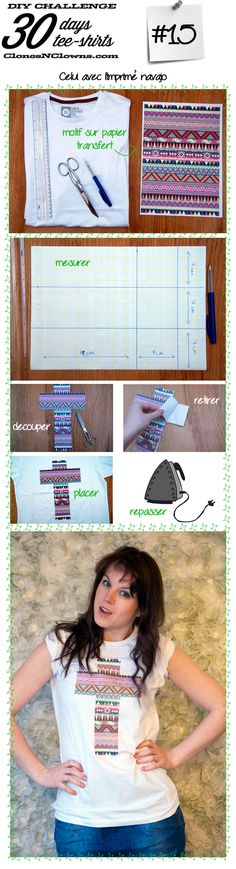 DIY 30 DAYS 30 TEE-SHIRTS : #15 avec imprimé navajo | BLOG CREATION DIYBLOG CREATION DIY
