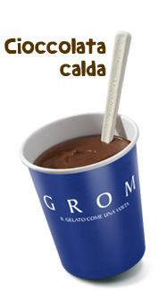 Hot chocolate at Grom