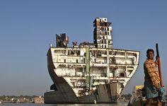 Jan Møller Hansen: 'The shipbreaking beach in Chittagong, Bangladesh, where more than 100 gigantic ships are scrapped every year.'Photograph: Jan Møller Hansen