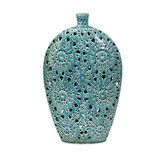 Found it at Wayfair - Lopez Large Floral Pierced Vase-this too :)