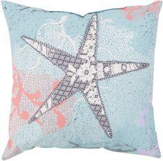 Rain Throw Pillow Blue, Gray