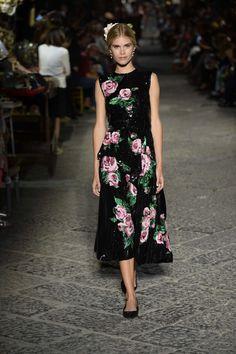 Dolce & Gabbana celebrate Sophia Loren and Naples at their Alta Moda show.