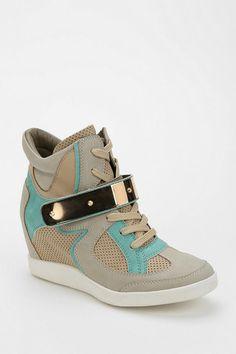 Wanted Beacon Hidden Wedge High-Top Sneaker from Urban Outfitters. Sneaker Heels, Wedge Sneakers, Wedge Shoes, High Top Sneakers, Shoes Heels, Wedge High Tops, Sneaker Games, Hot Shoes, Dream Shoes