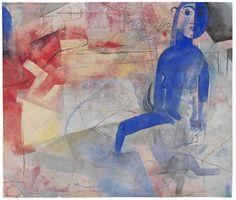 Blaue Figur by Heinrich Campendonk
