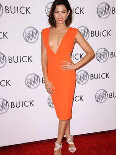 Don't be scared of orange -- Jenna Dewan Tatum in SOLACE London