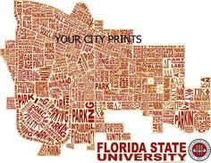 Florida State University Word Map Art.