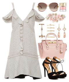 """""""Style It in a Summer Dress (outfit only) 1712"""" by boxthoughts ❤ liked on Polyvore featuring Forever 21, Versace, Proenza Schouler, NSR Nina Runsdorf, New Look, Marc Jacobs, Accessorize and Smith & Cult"""