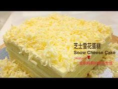 芝士雪花蛋糕 The Best Snow Cheese Cake Recipe Cooking Tips, Cooking Recipes, Cooking Videos, 7 Cake, Fresh Milk, Cake Flour, Cake Pans, Cheesecake Recipes, Cheddar Cheese