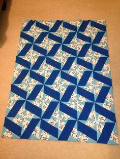 Train X-block quilt