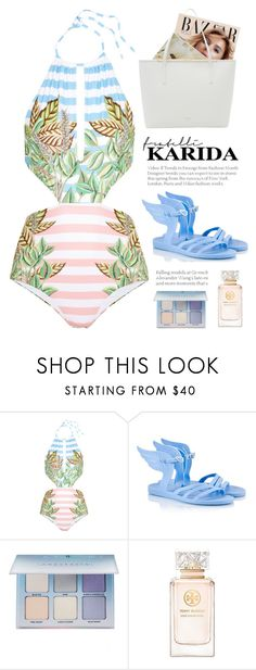"""Fratelli Karida 10"" by yexyka ❤ liked on Polyvore featuring Mara Hoffman, Ancient Greek Sandals, Anastasia Beverly Hills, Tory Burch, Ted Baker and FratelliKarida"