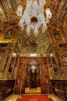 """Hall of Mirror"", Part of Golestan Palace a World Heritage Site in Tehran, Iran by Ali KoRdZaDeh on Azɱαʈ Sülҽiɱāaɲ سليمان Persian Architecture, Beautiful Architecture, Art And Architecture, Palaces, Temples, Hall Of Mirrors, Iran Travel, Iranian Art, Patterned Carpet"
