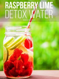 raspberry lime detox water: a refreshing fruit infused drink
