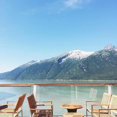 """""""Lunchtime in #Alaska–View included. Photo taken by @designaglow aboard #CelebritySolstice."""" #celebritycruises"""