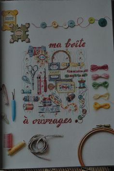 """Еленкины записки: Обзор книги Veronique Enginger """"Mon atelier au fil des saisons a broder au point de croix"""""""