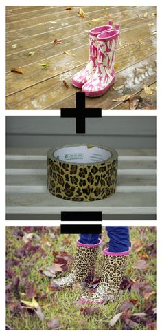 Revamp your rain boots with fun duct tape