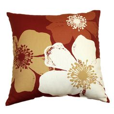 Garden Treasures Chapin Red UV-Protected Outdoor Accent Pillow $13.98
