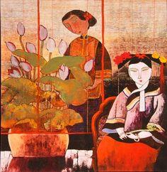 Lithographie style Hu Yongkai