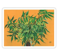 """""""""""Ash-tree"""", green & yellow, floral art"""" Stickers by clipsocallipso 